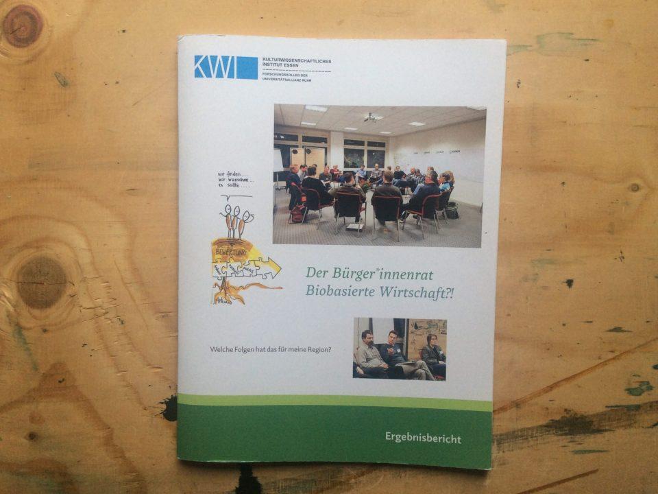 Ergebnisbericht Bürgerinnenrat Biobasierte Wirtschaft KWI